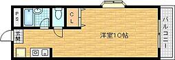 カーサエクリオ 4階1Kの間取り