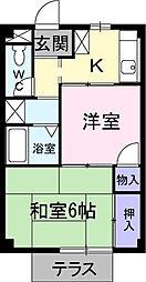 シーズ桜B[2階]の間取り