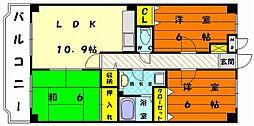 コンフォート香椎東[3階]の間取り