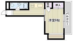 シャトー富士[209号室]の間取り