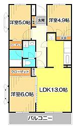 エスポワール新座[2階]の間取り