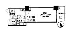 東急東横線 代官山駅 徒歩1分の賃貸マンション 6階1Kの間取り