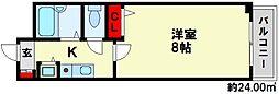 S・フォンティーヌ大橋[4階]の間取り