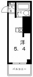 パークサイド上本町駅前[3階]の間取り
