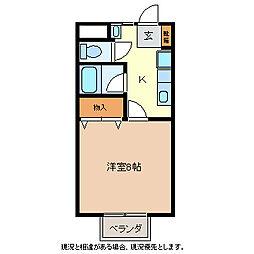 ハローイントクマI[1階]の間取り