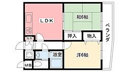兵庫県西宮市甲子園一番町の賃貸マンションの間取り