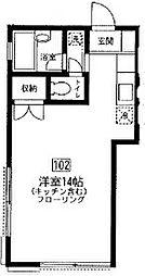 東京都板橋区蓮沼町の賃貸アパートの間取り