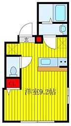 JR京浜東北・根岸線 王子駅 徒歩10分の賃貸マンション 4階ワンルームの間取り