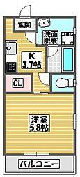 (仮)ミオナカンパニー店舗兼共同住宅(国場)203号室 2階1Kの間取り