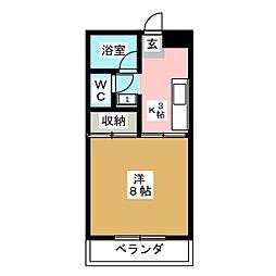 レジデンスササキ[2階]の間取り