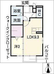 エスポワール C[1階]の間取り