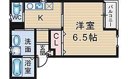 Y'sハウス 1階1Kの間取り