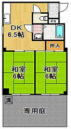 サントピア大正3[1階]の間取り