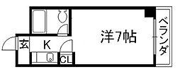 京都府京都市下京区金東横町の賃貸マンションの間取り