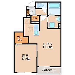 ヌーベルコートB[2階]の間取り