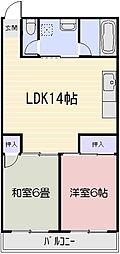 粟井ビルディング[407号室]の間取り