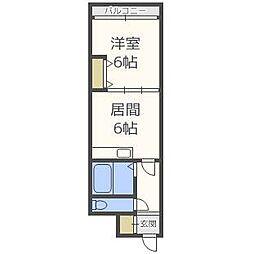 エンブレム札幌発寒II  B棟[4階]の間取り