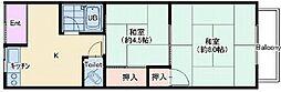 大阪府大阪市住之江区安立1丁目の賃貸アパートの間取り