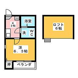 リバティー豊田本町[2階]の間取り