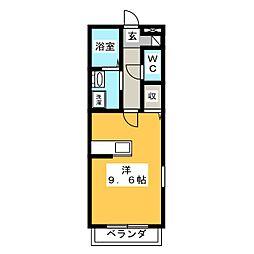 トゥリーベルOKAZAKI[2階]の間取り
