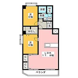エステート小島[4階]の間取り