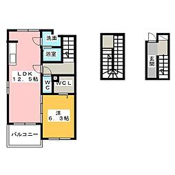グランソレイユI[3階]の間取り