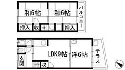 [テラスハウス] 兵庫県川西市東畦野2丁目 の賃貸【/】の間取り