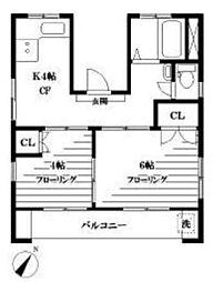 東京都文京区千石3丁目の賃貸マンションの間取り