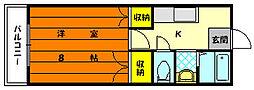 福岡県福岡市東区大字上和白の賃貸マンションの間取り