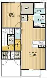 ペリドットII 1[1階]の間取り