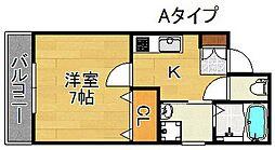 アクアパレス[1階]の間取り