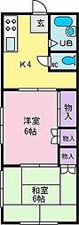 マンション篠原[2階]の間取り