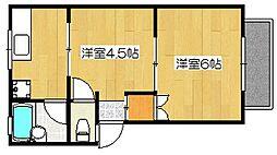 メゾンソレイユ B棟[2階]の間取り