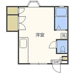ミレニアム友丘[2階]の間取り