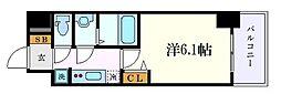JR中央本線 鶴舞駅 徒歩2分の賃貸マンション 4階1Kの間取り