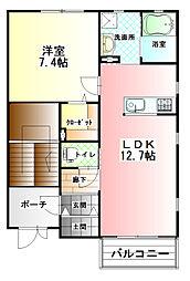 カーサ・ソラーナ A棟[2階]の外観