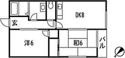 広島県広島市安佐南区川内5丁目の賃貸アパートの間取り