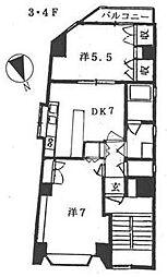 内田工務店ビル[3階]の間取り