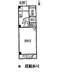 愛知県尾張旭市根の鼻町二丁目の賃貸アパートの間取り