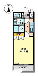 エルアールA[A203号室]の間取り