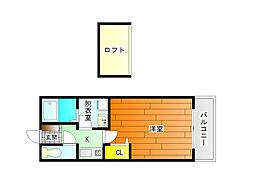 セジュールシャトレーB棟[2階]の間取り