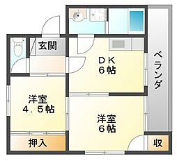 円山グリーンハイツ[3階]の間取り