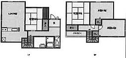 [一戸建] 大阪府岸和田市中井町2丁目 の賃貸【/】の間取り