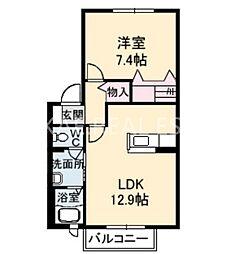 シャーメゾン昭和1[202号室]の間取り