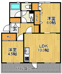 浅川団地200棟[205号室]の間取り