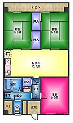 マンション和[3階]の間取り