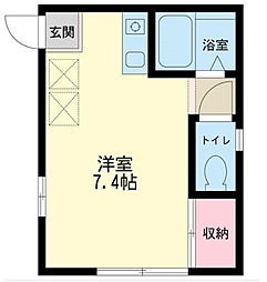 東京都江東区東陽3丁目の賃貸アパートの間取り
