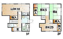 [一戸建] 福岡県北九州市小倉北区緑ケ丘1丁目 の賃貸【/】の間取り