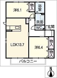 コータ・コートW B棟[1階]の間取り