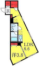 東武東上線 大山駅 徒歩6分の賃貸マンション 5階1LDKの間取り